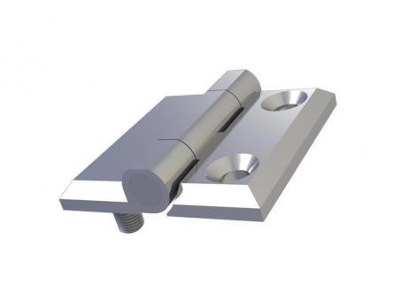 MY4040.1.2.2 Петля накладная 40*40, металл, хром, 2 отверстия под винт М5, 2 шпильки М5