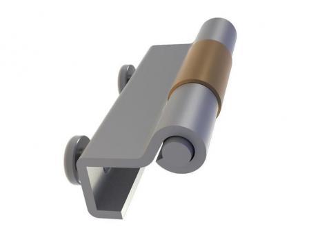 MG05.2.1.V2.2 Петля потайная с втулкой под сварку, с отверстиями М5
