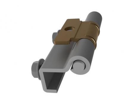 MG05.2.1.V1.1 Петля потайная с язычком под сварку, со шпильками М5