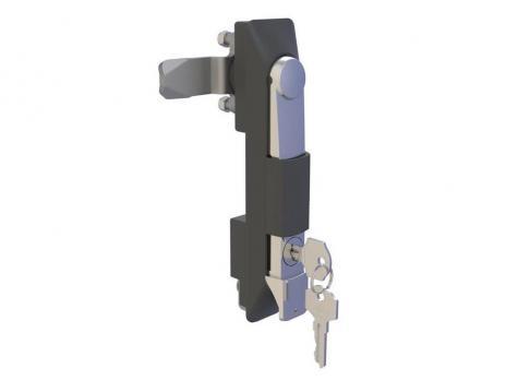 KI21.2.DD.CC Замок панельный полиамидный с металлической ручкой (хром) и ключом