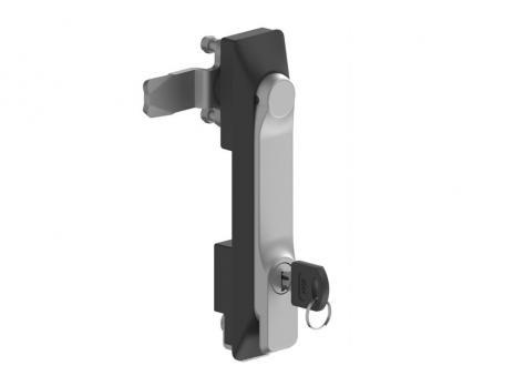 KI25.2.DD.CC Замок панельный полиамидный с металлической ручкой (хром) и ключом
