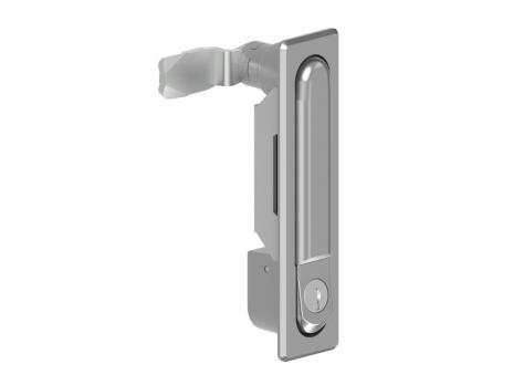 KI09.2.DD.CC.Замок панельный, металлический, с ключом и кнопкой