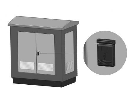 KT02.4.5.CC Замок для трансформаторов с Т- образной ручкой, черный